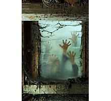 Zombies outside a window Photographic Print