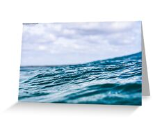 The deep blue sea Greeting Card