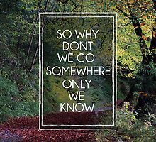 Somewhere Only We Know by trilac