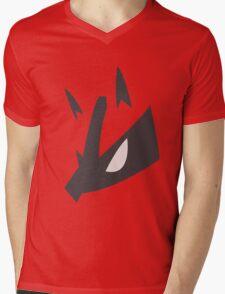 Lucario Pokemon Face Mens V-Neck T-Shirt