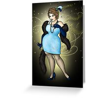 Olivia - The Fat 1920s Flapper Greeting Card