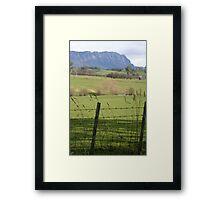 Mt Roland- Sheffield Tasmania Framed Print