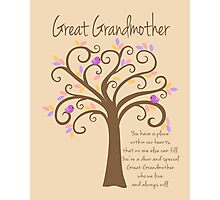 Great Grandmother/Grandchildren Tree Print Photographic Print