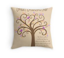 Great Grandmother/Grandchildren Tree Print Throw Pillow