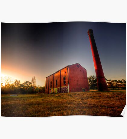 Old Mill at Sunset Poster