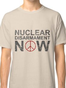 "Vintage Style ""Nuclear Disarmament Now"" T-Shirt Classic T-Shirt"
