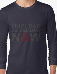 "Vintage Style ""Nuclear Disarmament Now"" T-Shirt Long Sleeve T-Shirt"