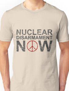 "Vintage Style ""Nuclear Disarmament Now"" T-Shirt Unisex T-Shirt"