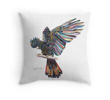 The Black Cockatoo Throw Pillow
