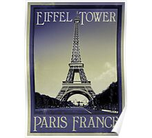 Paris France vintage look Poster
