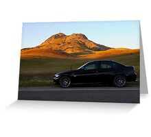 My E90 at the Buttes Greeting Card