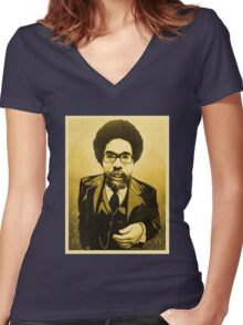 Dr Cornel West Women's Fitted V-Neck T-Shirt