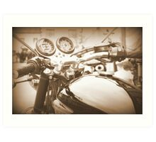 The View From The Handlebars *part two* Art Print