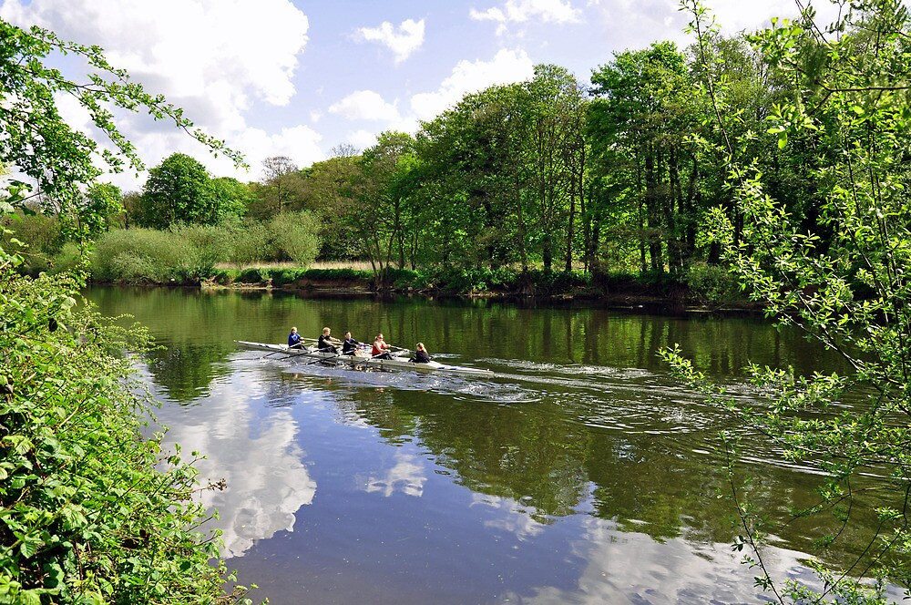 Rowing Practice, near Branston by Rod Johnson
