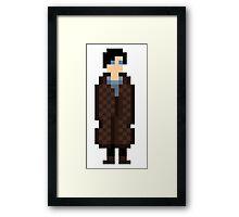 Sherlock Pixel Framed Print