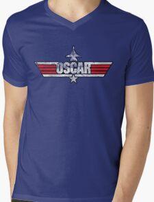 Custom Top Gun Style - Oscar Mens V-Neck T-Shirt