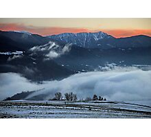 Afterglow in the Dolomites Photographic Print