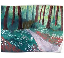 Snowdrops in Spring Poster