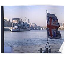 London by Boat Poster