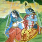 Radha Krishna in jovial mood by BHANAVI