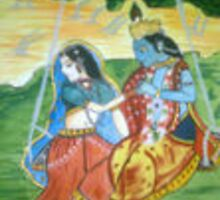 Radha Krishna in jovial mood by BHANAVI