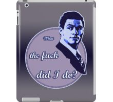 """What the fuck did I do?""  (""The Wire"") iPad Case/Skin"