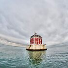 New London Ledge Lighthouse (wide shot) by Timothy Borkowski