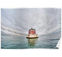 New London Ledge Lighthouse (wide shot) Poster