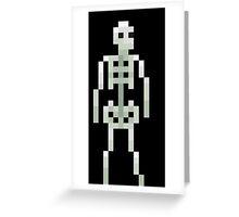 Skeleton Pixel Greeting Card