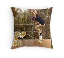 Heel-flip To Fakie Throw Pillow
