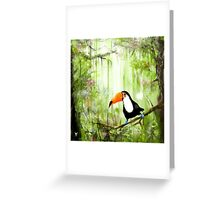 tucan forest Greeting Card