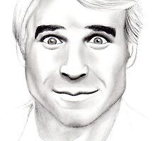 Steve Martin Portrait by Courtney Mitchell