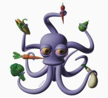 Octopus juggling vegetables from Valxart.com  Baby Tee