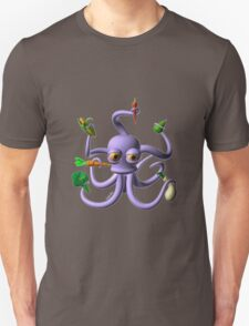 Octopus juggling vegetables from Valxart.com  T-Shirt