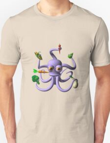 Octopus juggling vegetables from Valxart.com  T-Shirt