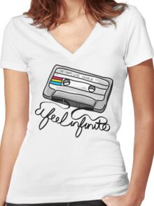 """I Feel Infinite"" - Perks of Being a Wallflower Women's Fitted V-Neck T-Shirt"