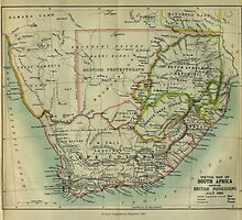 1885 Sketch map of South Africa by Maree Clarkson