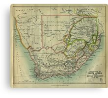 1885 Sketch map of South Africa Canvas Print