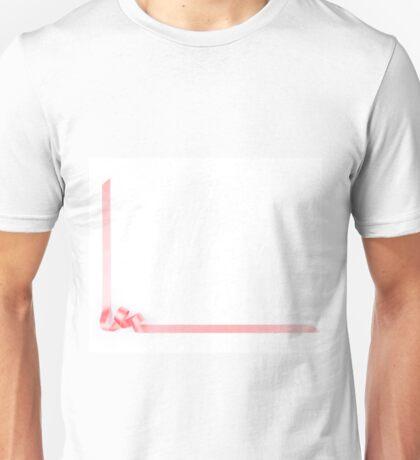 Pink streamer ribbon Unisex T-Shirt