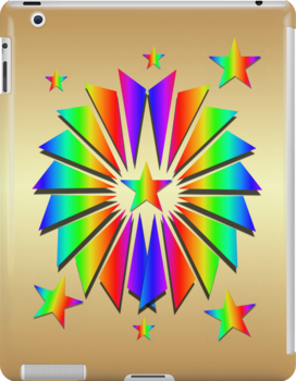 Rainbow Pattern .. iPad case by LoneAngel