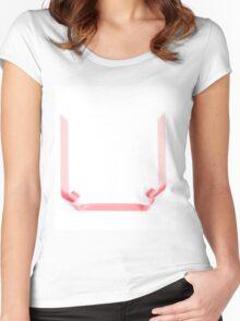 Pink streamer ribbon Women's Fitted Scoop T-Shirt