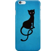 Blue Gracious Evil Black Cat IPhone Case iPhone Case/Skin