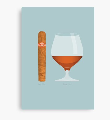 Brandy and Cigar Canvas Print