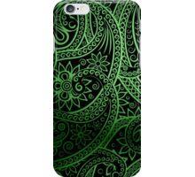 Stylish green Paisley Pattern iPhone Case/Skin