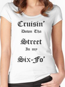 Cruisin Down Tha Street.... Women's Fitted Scoop T-Shirt