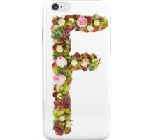 Capital Letter F Part of a set of letters, Numbers and symbols iPhone Case/Skin