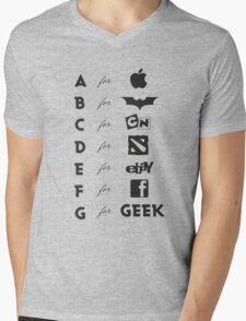 Geek ABC (black) Mens V-Neck T-Shirt