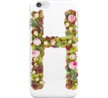 Capital Letter H Part of a set of letters, Numbers and symbols iPhone Case/Skin