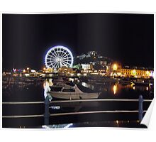 Torquay - The bay At Night Poster
