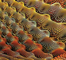 Metallic Fractal Dunes by AntiCollegial